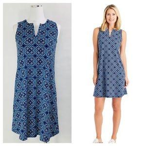 J.Mclaughlin Ellison Split Neck Shift Dress